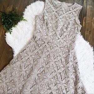 London Times Crochet Dress Fit & Flare 8